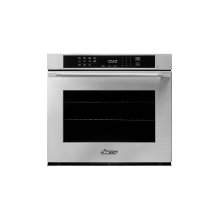 """Heritage 30"""" Single Wall Oven, DacorMatch with Epicure Style Handle (End Caps in stainless steel)"""