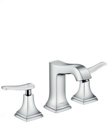 Chrome Widespread Faucet 110 with Lever Handles and Pop-Up Drain, 1.2 GPM