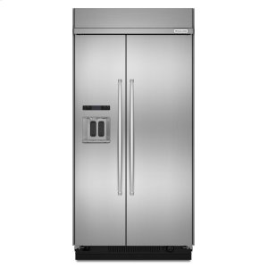 KitchenAid29.5 cu. ft 48-Inch Width Built-In Side by Side Refrigerator with PrintShield Finish - PrintShield Stainless