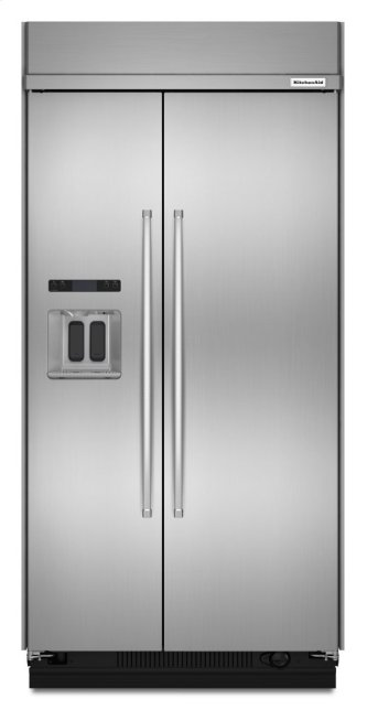 29.5 cu. ft 48-Inch Width Built-In Side by Side Refrigerator with PrintShield Finish - Stainless Steel