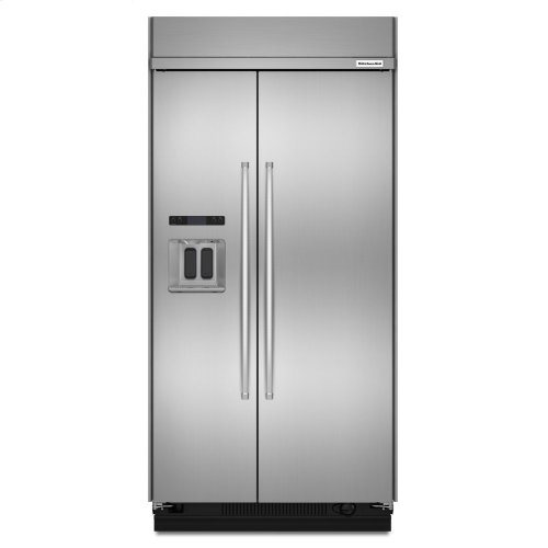 29.5 cu. ft 48-Inch Width Built-In Side by Side Refrigerator with PrintShield Finish - Stainless Steel with PrintShield™ Finish