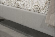 Kaylie Upholstered Side Rail - King - Dove Gray