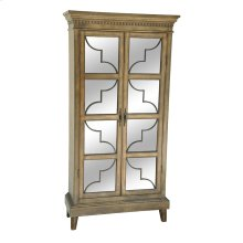 Wyndham 2 Door Wood & Veneer Glass Door Curio