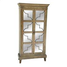 Wyndham 2 Door Wood & Veneer Glass Door Curio
