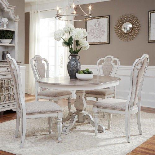 Opt 5 Piece Pedestal Table Set