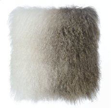 Tibetan Sheep Pillow White to Brown Product Image