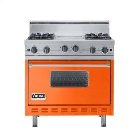 """Pumpkin 36"""" Open Burner Range - VGIC (36"""" wide, four burners 12"""" wide griddle/simmer plate)"""