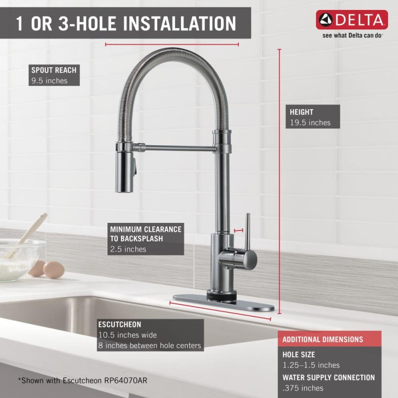 9659TARDST in Arctic Stainless by Delta Faucet Company in New York ...