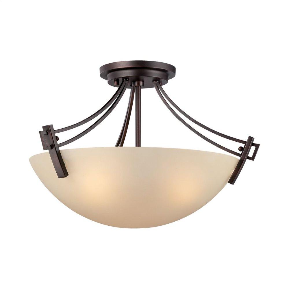 Wright 3-Light Ceiling Lamp in Espresso