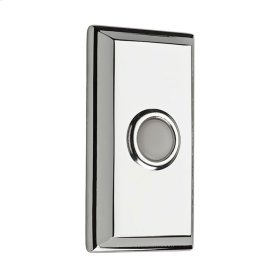 Polished Chrome BR7015 Rectangular Bell Button