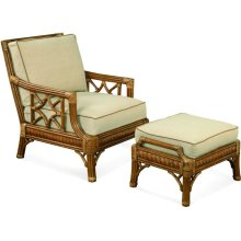 St. Augustine Chair and Ottoman
