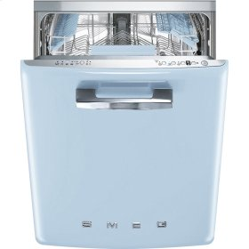"Approx 24"" Pre-finished Dishwasher with 50'S Retro Style handle, Pastel blue"