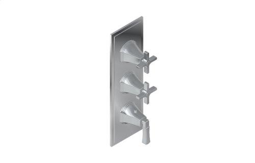 Finezza UNO Thermostatic 3-Hole Trim Plate and Handle