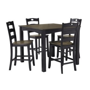 Ashley FurnitureSIGNATURE DESIGN BY ASHLEFroshburg Counter Height Dining Room Table and Bar Stools (set of 5)