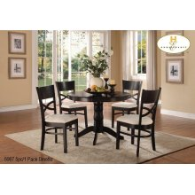 5pc/1 Pack Pedstal Dinette Set