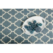 Linie Design Adelyn Turquoise Wool Rug