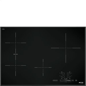 "Smeg78,2 CM (approx. 31""), Induction cooktop, black, standard building type"