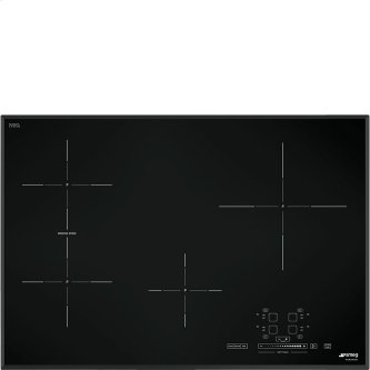 """78,2 CM (approx. 31""""), Induction cooktop, black, standard building type"""