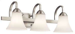 Keiran 3 Light Vanity Light Brushed Nickel