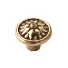 Fiore Knob A1471 - Polished Antique