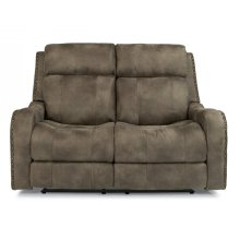 Springfield Fabric Power Reclining Loveseat with Power Headrests
