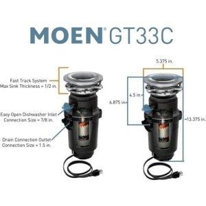 MoenGT Series garbage disposal