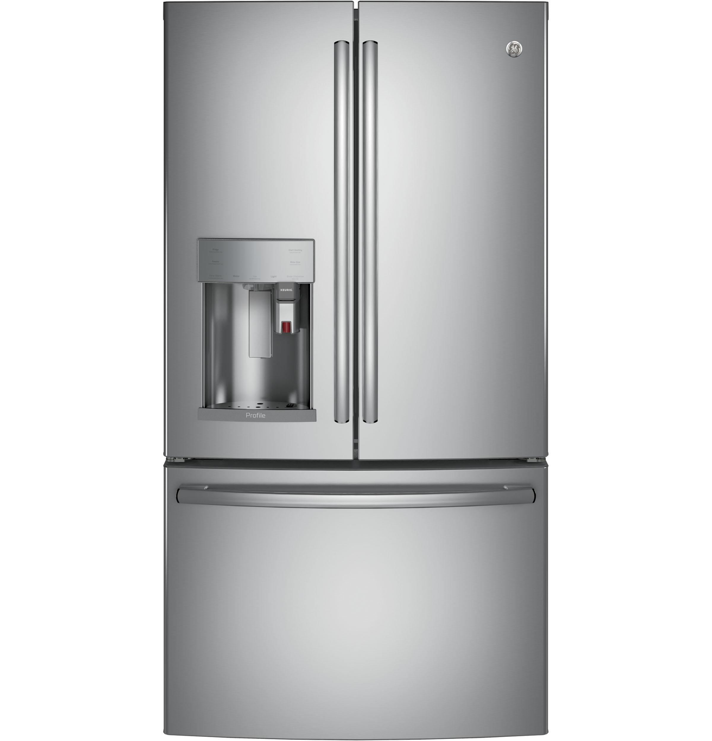 GE Profile(TM) Series ENERGY STAR(R) 22.2 Cu. Ft. Counter-Depth French-Door Refrigerator with Keurig(R) K-Cup(R) Brewing System