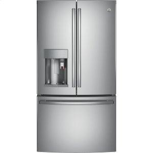 GE Profile™ Series ENERGY STAR® 22.1 Cu. Ft. Smart Counter-Depth French-Door Refrigerator with Keurig® K-Cup® Brewing System - STAINLESS STEEL