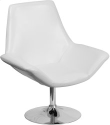 HERCULES Sabrina Series White Leather Side Reception Chair