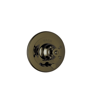 English Bronze Perrin & Rowe® Georgian Era Pressure Balance Trim With Diverter with Georgian Era Style Solid Metal Lever