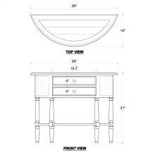Demi-lune Table