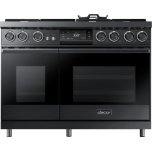 """Dacor48"""" Pro Dual-Fuel Steam Range, Graphite Stainless Steel, Natural Gas"""
