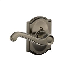Flair Lever with Camelot trim Non-turning Lock - Antique Pewter