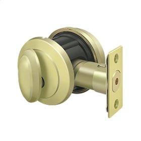 Solid Brass Port Royal Deadbolt Lock Grade 2 - Polished Brass