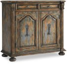Two-Door Two-Drawer Chest w/Bun Feet Product Image