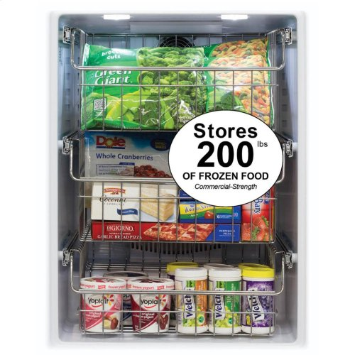"""24"""" Professional Freezer - Panel-Ready Solid Overlay Door with Lock - Integrated Right Hinge (handle not included)*"""