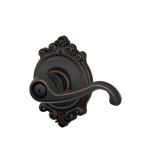 Callington Lever with Brookshire trim Bed & Bath Lock - Aged Bronze