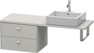 Brioso Low Cabinet For Console Compact, Concrete Grey Matt Decor Product Image