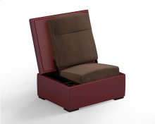 JumpSeat Ottoman, Ruby Cover / Mocha Seat