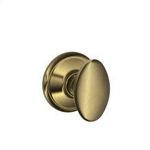 Siena Knob Hall & Closet Lock - Antique Brass