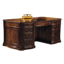 Old World Walnut Executive Desk