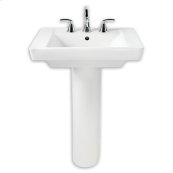 White Boulevard Pedestal Sink