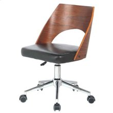 Dustin Office Chair, Black/Walnut