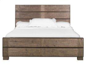 Complete Cal.King Metal/Wood Panel Bed