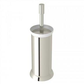 Polished Nickel Perrin & Rowe Holborn Floor Standing Porcelain Toilet Brush Holder