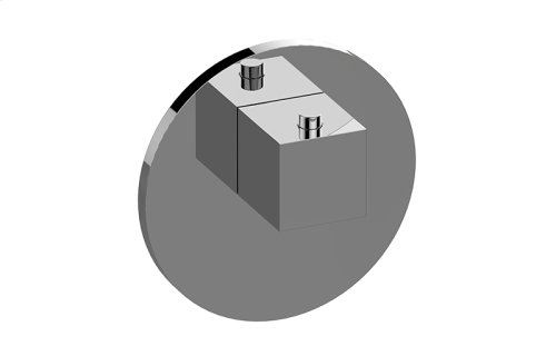 Round M-Series Thermostatic Valve Trim with Handle