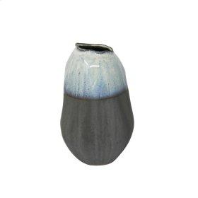 "Ceramic 8.25"" Organic Vase , Gray"
