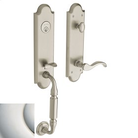 Polished Nickel with Lifetime Finish Manchester Handleset