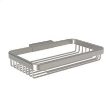 "Satin Nickel 8"" Toiletry Basket"