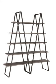 "Emerald Home Atari Bookshelf 60"" W/2 Racks Metal Frame, Antique Grey Shelves Ac350-60 Product Image"